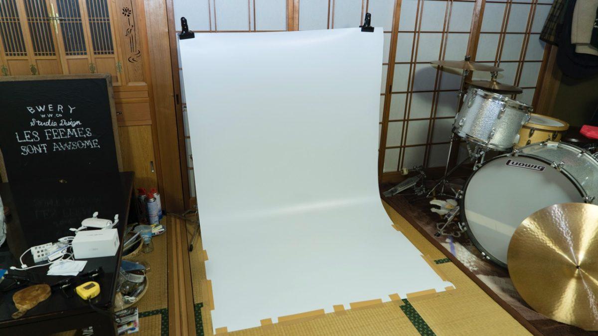 簡易スタジオを家に作っています。