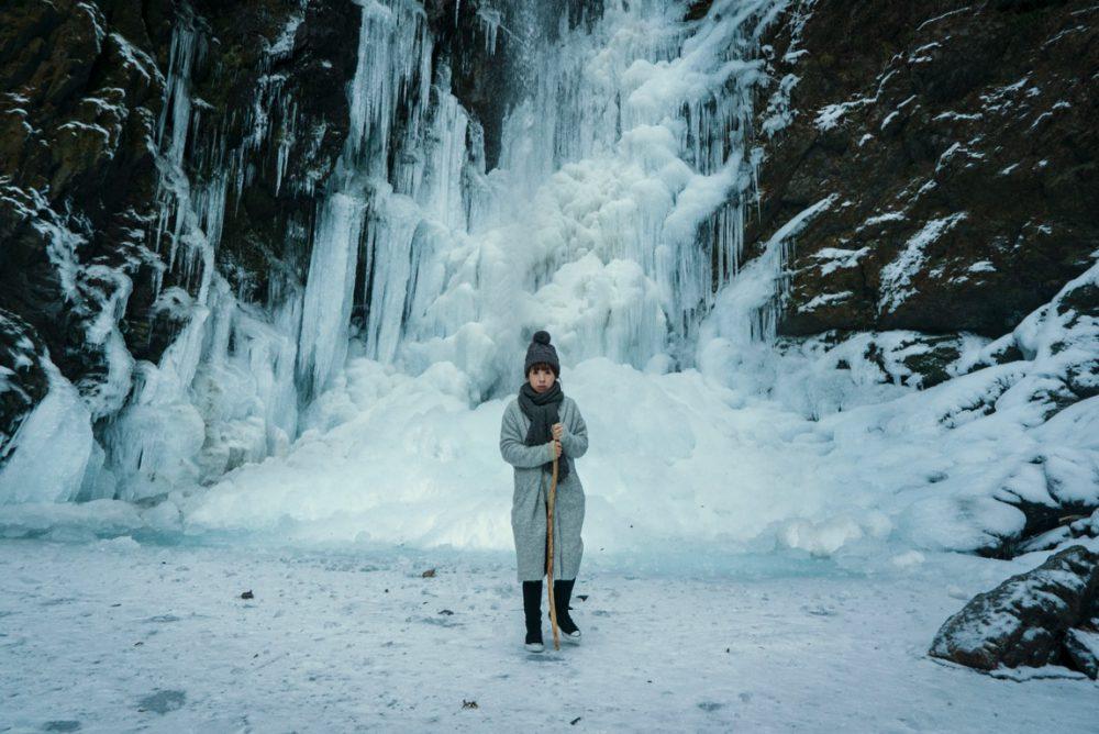 氷瀑が見られる徳島県神山町の神通の滝に行って来ました