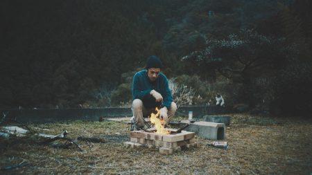 ソロ焚き火のYouTube動画をアップ