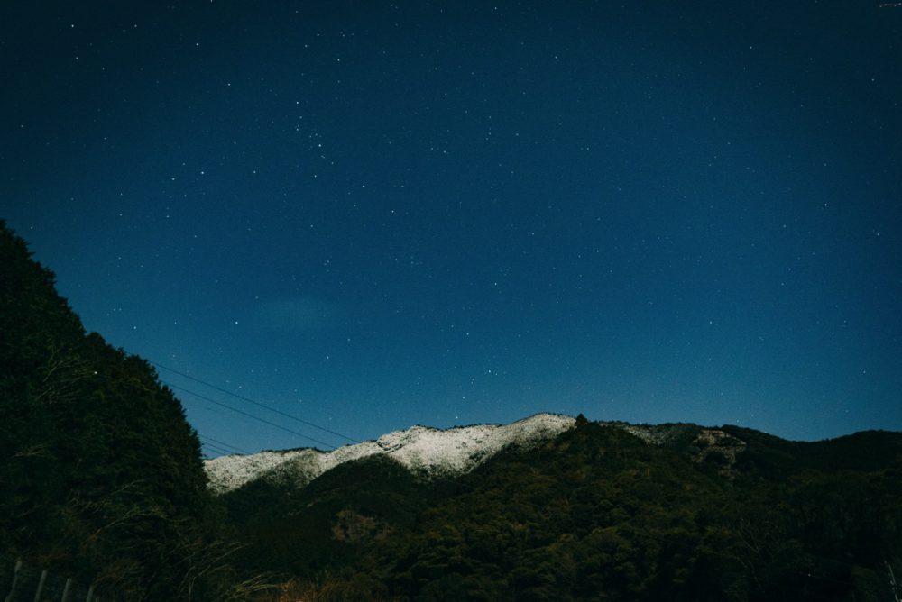 山に雪が積もっていたので撮ってみました [SONY A7S2]