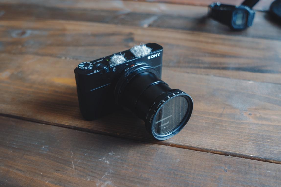 RX100Vで動画を撮るために絶対にやっておきたい可変式NDフィルターの取り付け
