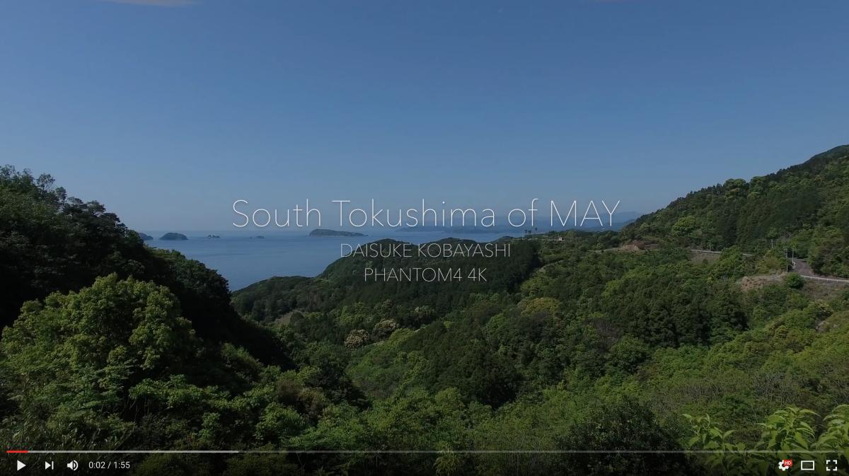 5月の徳島県南下を空撮